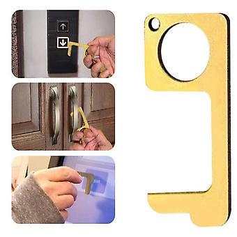 Handgemaakte Antibacteriële deuropener sleutelhanger - No-touch Deurhandgreep Opening