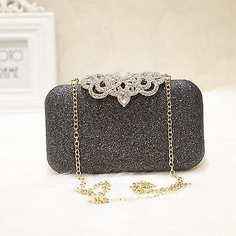 Fashion Sequined Scrub Clutch, Women's Evening Bags, Bling Day Clutches, Gold