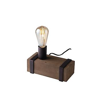 Europe Texas - Bordslampa, Mörkbrun, Antik trä, E27