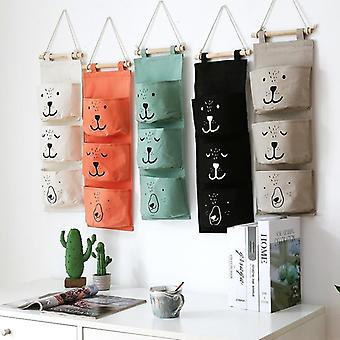 Wall Hanging Bathroom Toy Bags Organizer, Linen Closet, Pouch For Baby (white)