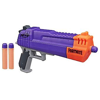 Nerf fortnite hc-e mega dart blaster – includes 3 official nerf mega fortnite darts – for youth,