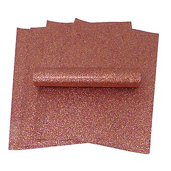 A4 Rouge et Or Iridescent Colour Mix Glitter Paper Soft Touch Non Shed 100gsm Pack de 10 feuilles