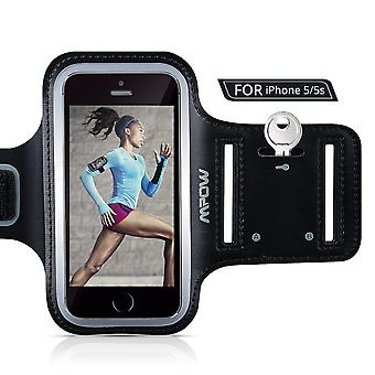 Mpow running sweat-free armband + key holder for iphone 5/5s/5c/se, ipod touch 5, with adjustable si