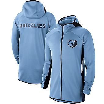 Memphis Grizzlies Licht Showtime Therma Flex Performance Full Hoodie Top WY151