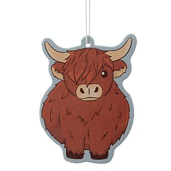 Autumn Leaves Highland Cow Air Freshener by Puckator