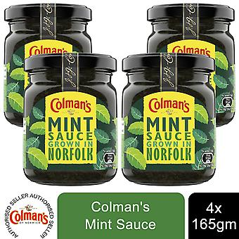 Colman's Mint Condiments Sauce Grown in Norfolk, 4 Jars of 165g