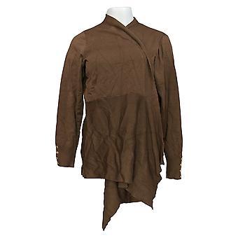 Susan Graver Kvinder's Plus Sweater Cardigan m/ Knap Detalje Grøn A374073