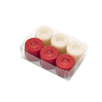 Deluxe Backgammon stenen rood & Ivory 36mm