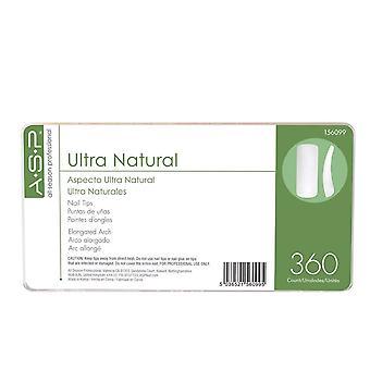ASP Ultra Natural Tips Master - Pack Of 360