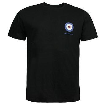 Ben Sherman Mens T-Shirt Short Sleeve Top Casual Tee Black 0057762 BLK A42E