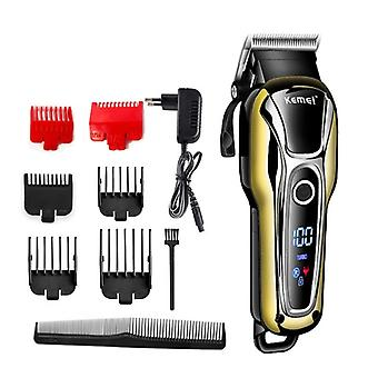 Professional Hair Clipper Rechargeable Hair Trimmer Beard Shaving Machine