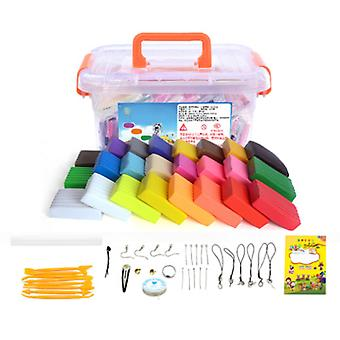 Modeling Clay Tool Kit-24 Colors, Soft And Flexible Super Light Magic Clay, With Tools, Simple Storage Box.
