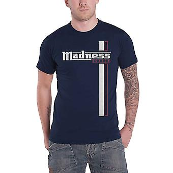 Madness T Shirt Stripes Band Logo new Official Mens Navy Blue