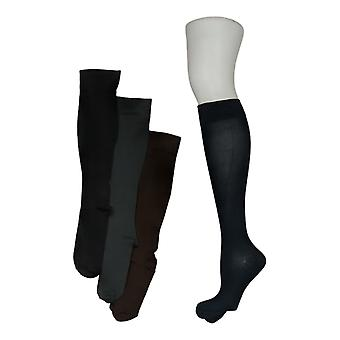 Legacy Women's M/L Graduated Compression Socks 4 Pack Blue / Brown A294527
