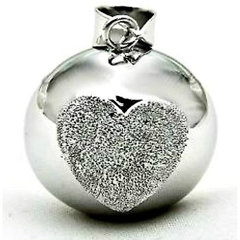 Crystal Silver Mexican Bola Pendant 2 Styles