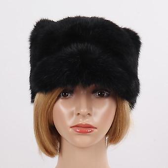 المرأة اليدوية حقيقية أرنب الفراء القبعات القبعات