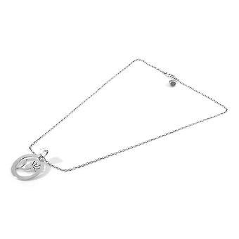 ANCHOR & CREW Exotic Flower Disc Paradise Silver Necklace Pendant