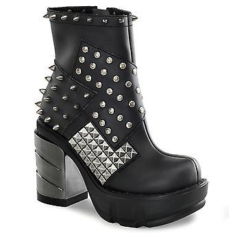 Demonia Women's Boots SINISTER-64 Blk Vegan Leather