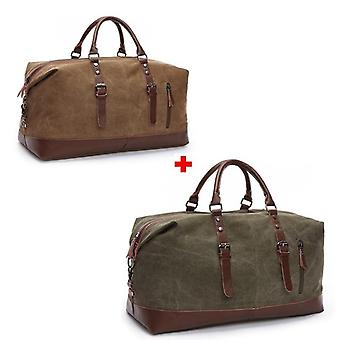 Duffel Canvas Overnight Travel Large Capacity Luggage Wild Bag