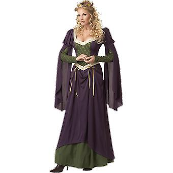 Womens Medieval Lady Queen Fairy Tale Game of Thrones Fancy Dress Costume