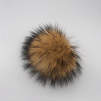 DIY الفاخرة الفراء Pompom - 100٪ الطبيعية اليدوية اليدوية حقا مع الكرة الشعر كبيرة