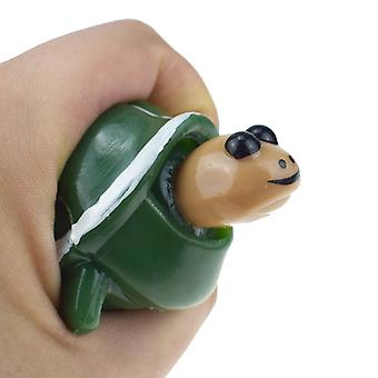 Novelty Decompression Venting Telescopic Head Turtle Spoof Toy