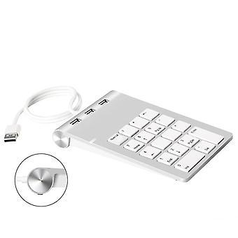 Teclado 18 teclas con tres usb hub / pc número de ordenador contador mini teclado