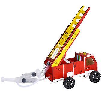 DIY Hydraulisk Brandbil Intelligence Uddannelse Building Block Hydraulisk Brandbil Model Blocks Legetøj