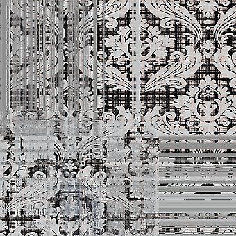 Tapete impresso Gray Lily Multicolor em Poliéster, Algodão, L80xP200 cm