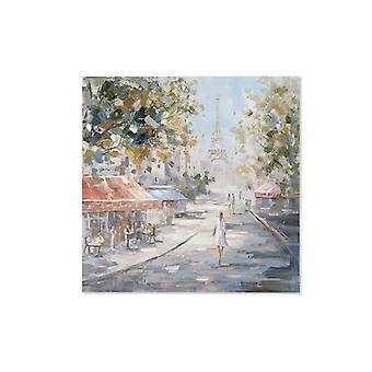 Maalaus Dekodonia Paris Monivärinen (100 x 3 x 100 cm)