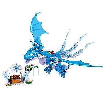 Lohikäärmeprinssi ja pirteä malli rakennuspalikat, kit tontut Bircks hahmot