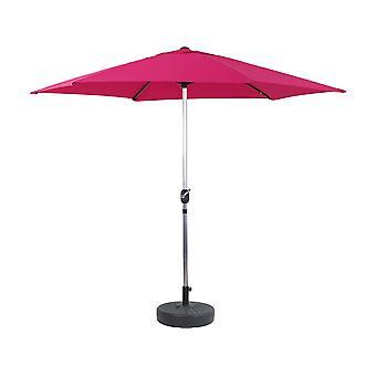 """Parasol de Jardín Aluminio """"Sol"""" – Rosa - Ø3m con base"""