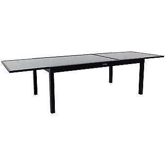 Aluminiowy stół ogrodowy z możliwością wysuwania & Porto 12&; - Phoenix - Czarny