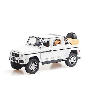 Benz G650 Alloy Open Car Off Vehicle Toy(White)