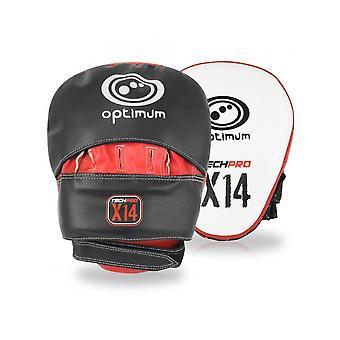 Optimum Sport Techpro X14 MMA Hook & Jab Mitts Foam Lined Training Protection