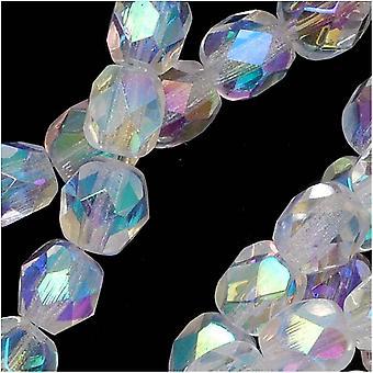 Tšekkiläinen tuli kiillotettu lasi läjät 6mm pyöreä kristalli AB 2X (25)