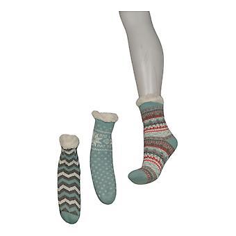 Muk Luks Women's Children's Jojoba Infused 3 Pk Green Socks A376622