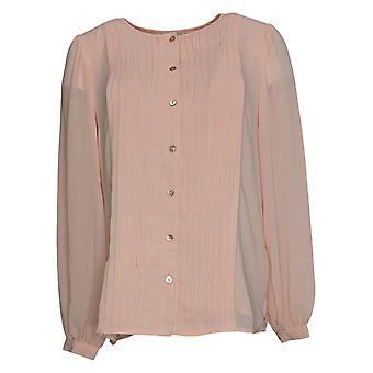 Linea Por Louis Dell'Olio Top Blusa plisada rosa A378720