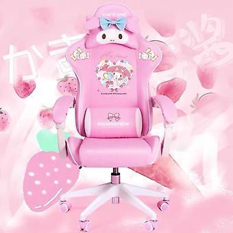 Wcg Cadeira de jogos bonito cadeira de computador de desenho animado e cadeira ajustável de elevação