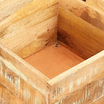 vidaXL Sitzbank mit Stauraum Altholz Massiv 40x40x45 cm