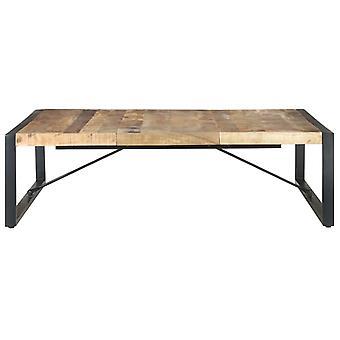 vidaXL sohvapöytä 140x140x40 cm Karkea mangopuu