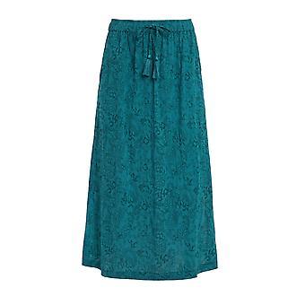 Izabel Cheesecloth Midi Skirt Deep Teal