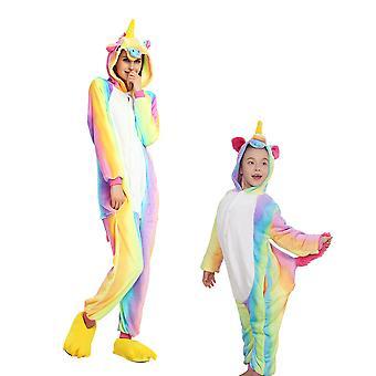 Regenboghorn Rainbow Pegasus Costume Unicorn Pajama Onesie Kigurumi Jumpsuit