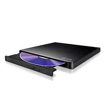 LG GP57EB40. AHLE10B Ultra Slim Kannettava USB 2.0 DVD-RW - Musta