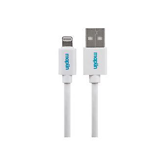 Maplin Premium Lightning-kontakt till USB A Hankabel 1,5 m vit
