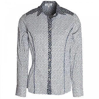 Vlt's By Valentina's Daisy Print Stretch Cotton Shirt