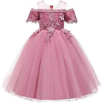 Pageant party Кружевной лепесток, длинное платье банкетного платья для Set-5