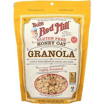 Bobs Red Mill Granola Gf Honey Oat, Case of 4 X 12 Oz