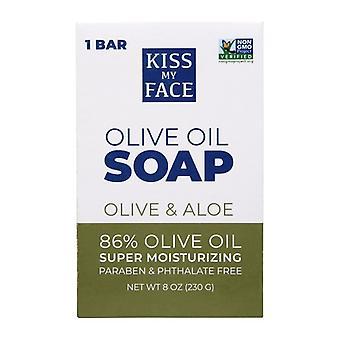 kyss ansiktet mitt bar såpe oliven og aloe
