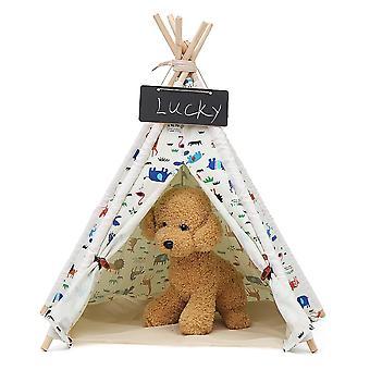 Pet hund hus vaskbar telt indendørs udendørs hjemme spille teepee